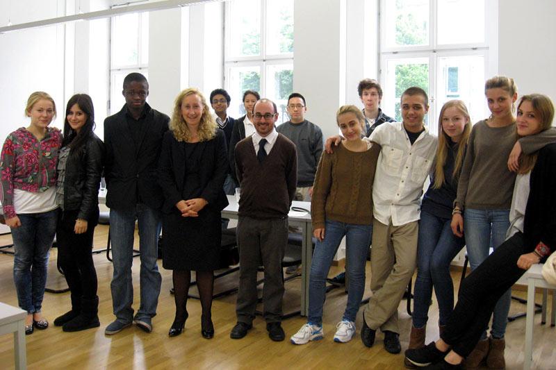 Berlin International School students at Globe Business College Munich