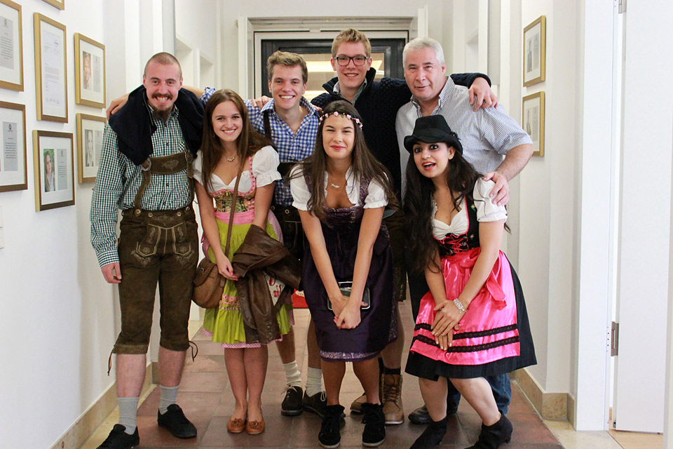 Globe College students dress for Oktoberfest