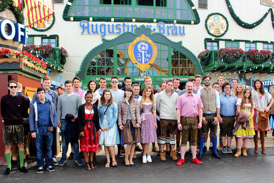 Globe Business College students at Munich Oktoberfest
